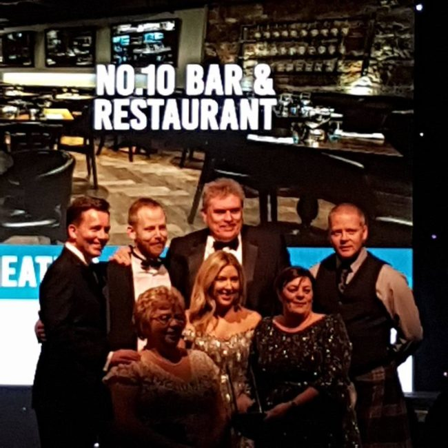 Tourism Award for No.10 Bar & Restaurant!