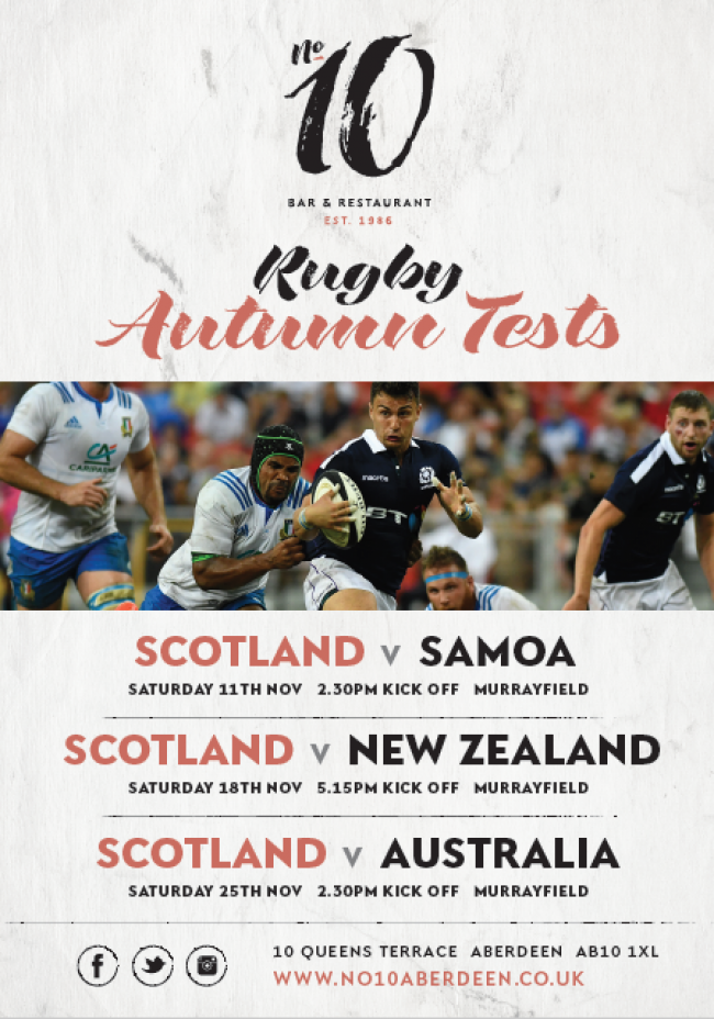 Rugby Autumn Tests