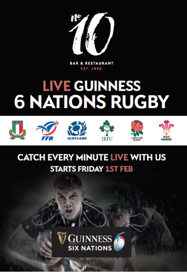 Six Nations at No.10 Bar & Restaurant